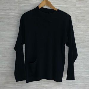 Ming Wang Asymmetrical Collar Tunic Top